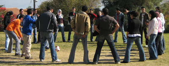 Group activity at the UJIA-supported Kibbtuz Eshbal for at-risk youth.