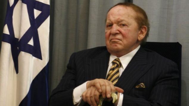 US billionaire businessman Sheldon Adelson (photo credit: Flash90/File)
