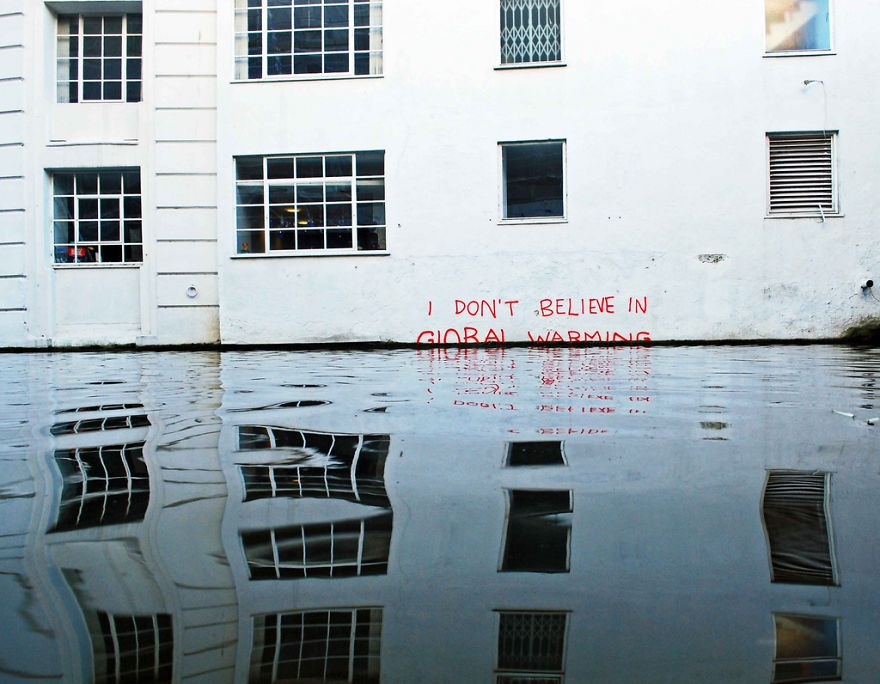 Global Warming (Photo courtesy of Pitria.com, Powerful Street Art)
