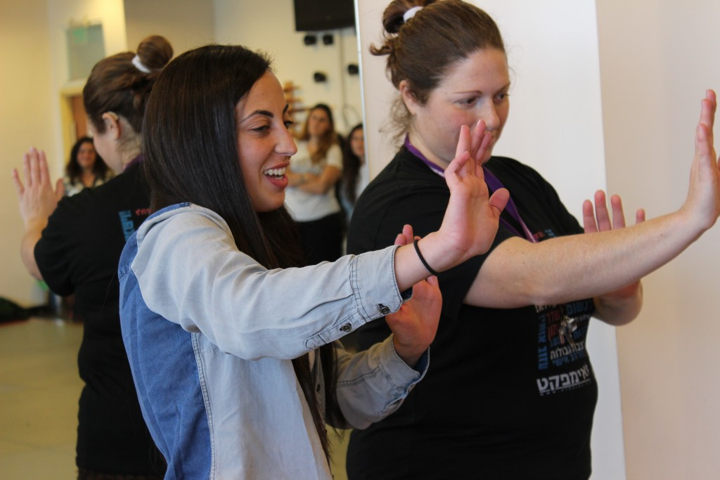 A young soldier learns how to set boundaries through words and body language with Sharon Bar Lev, a beloved El HaLev instructor