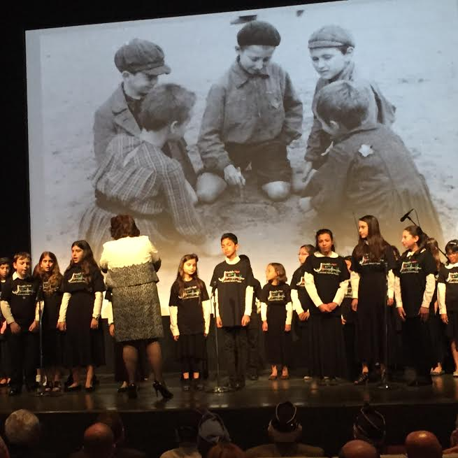 March 16, 2016-At the Museum of Tolerance-MOT Holocaust Memorial Day-Los Angeles Jewish Children Choir