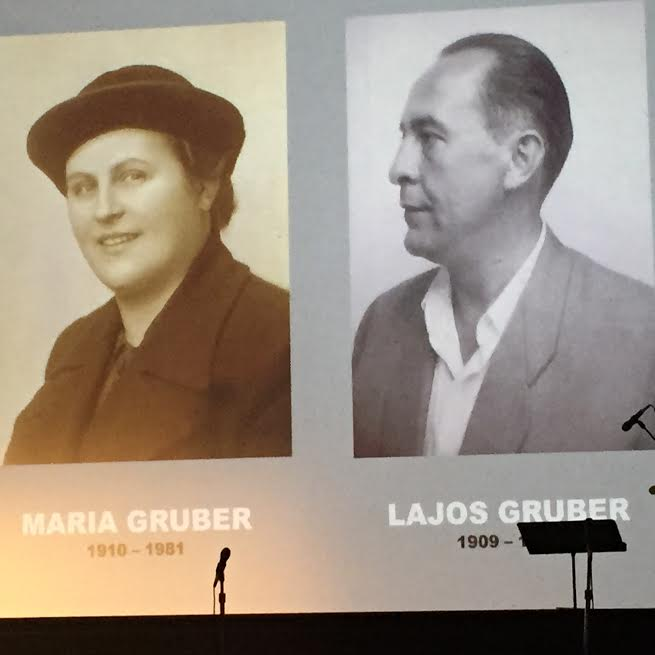 March 16, 2016-At the Museum of Tolerance (MOT), Los Angeles Holocaust Memorial Day-Maria and Lajos Gruber, non-Jews Hungarians who saved the Jewish family Spitz and posthumously received the State of Israel's Righteous of Nations award