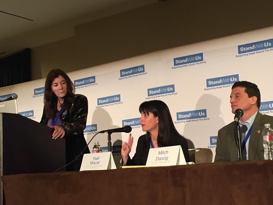 L Roz Rothstein SWU CEO, speakers Yael Mazar SWU Legal Advisor and Mitch Danzig SWU Legal Hotline