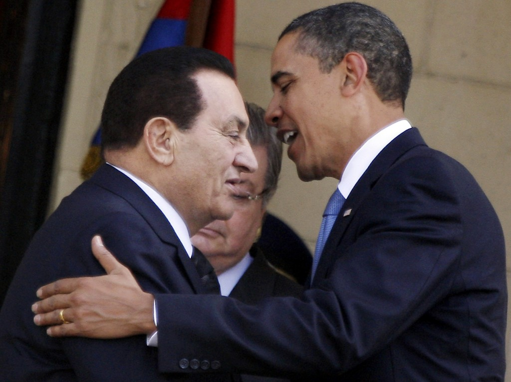 Another good friend: former Egyptian strongman Hosni Mubarak {public domain}