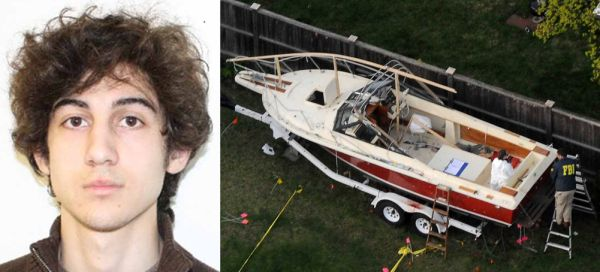 Tsarnaev and boat www.newsday.com