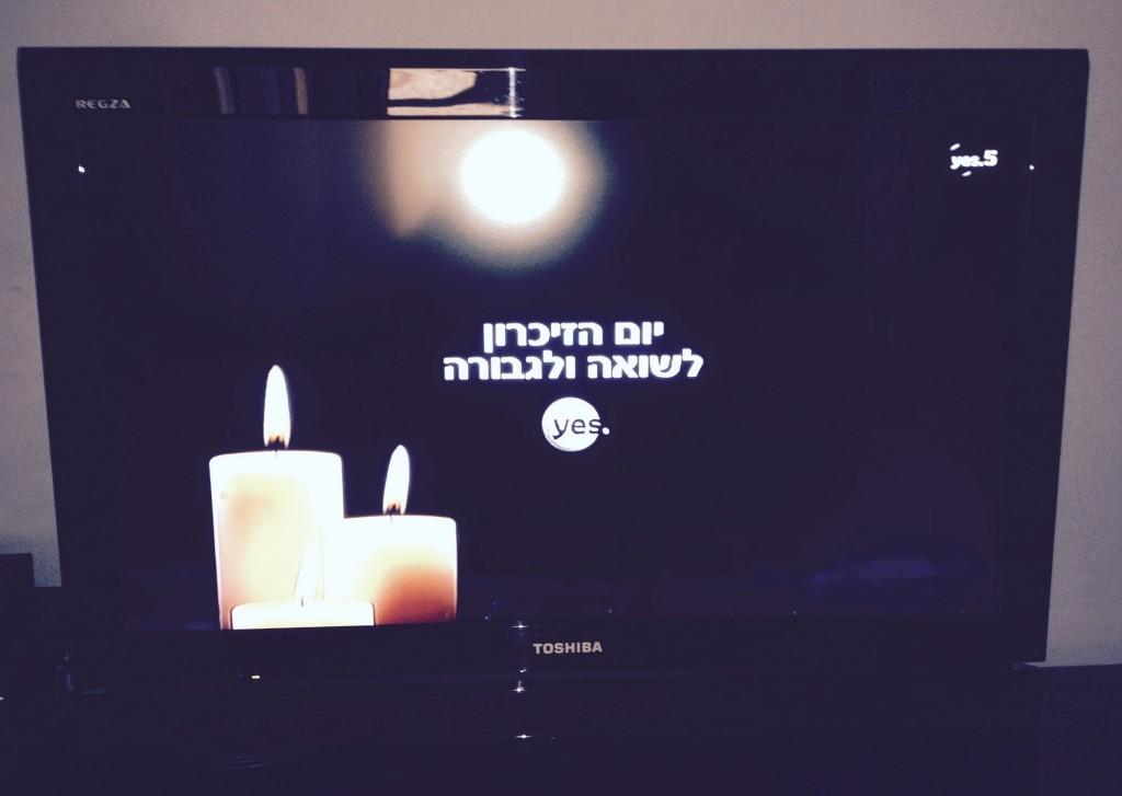 No frivolous TV programming in Israel today.
