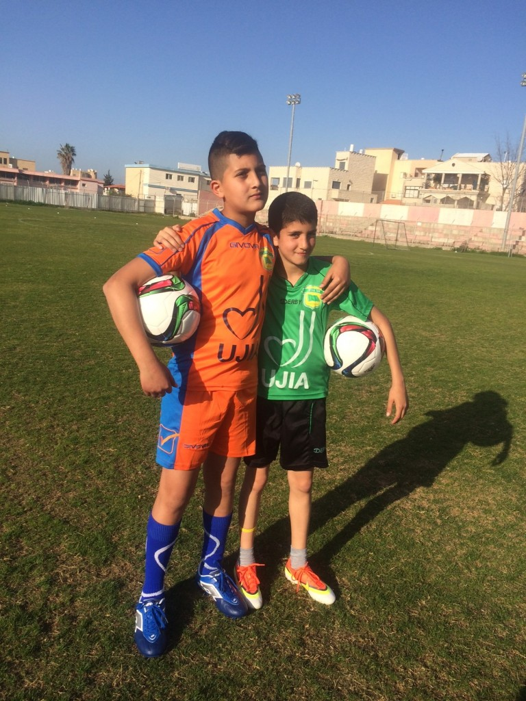 Muhammed, from Jedida-Maker, with fellow Equalizer participant Ilay, from Akko, 20 minutes away.