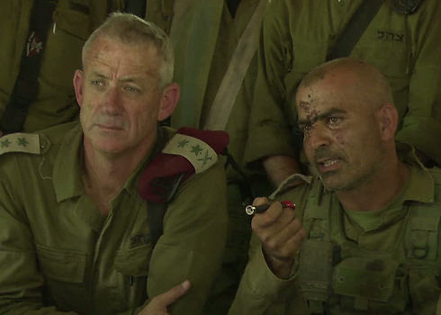 IDF Chief of Staff Lieut. Gen. Gantz and Col. Ghassan Alian (Photo: IDF Spokesperson's Unit)