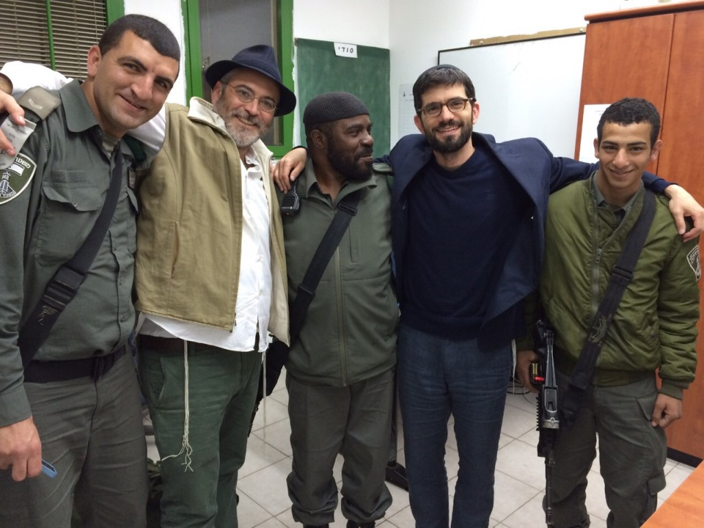 With Aryeh, Officer's Obidah, Janem and Amir.