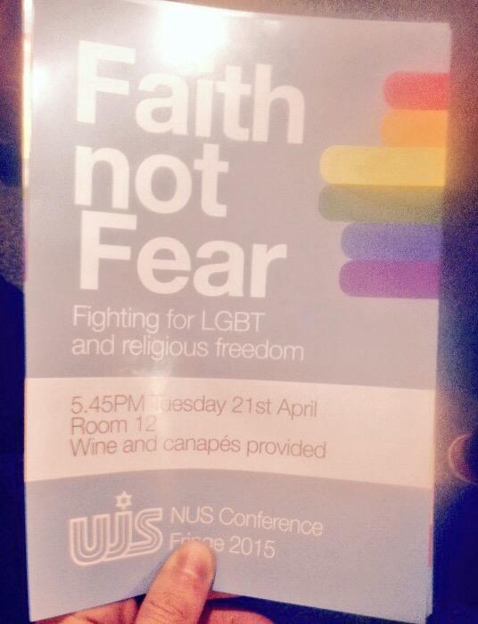 Leaflet for UJS event