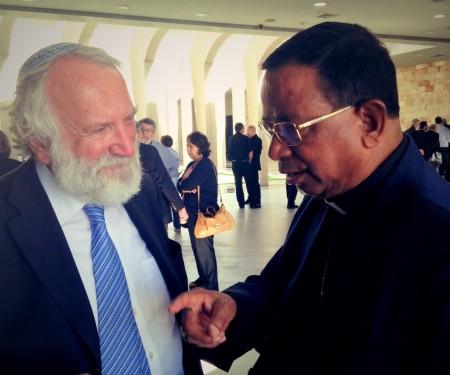 Rabbi Awraham Soetendorp and Cardinal Toppo