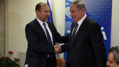 Prime Minister Benjamin Netanyahu and Bayit Hayehudi Party Leader Naftali Bennet. (photo credit: new media/Likud)