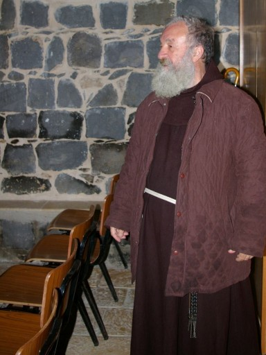 A caretaker at the Church of the Primacy of St. Peter in Tabgha, Israel. (Photo: Dexter Van Zile)