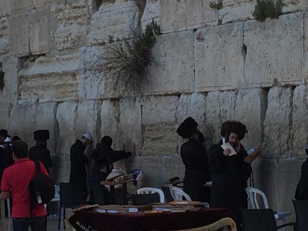Shtrimel wearing Jews at the Kotel.
