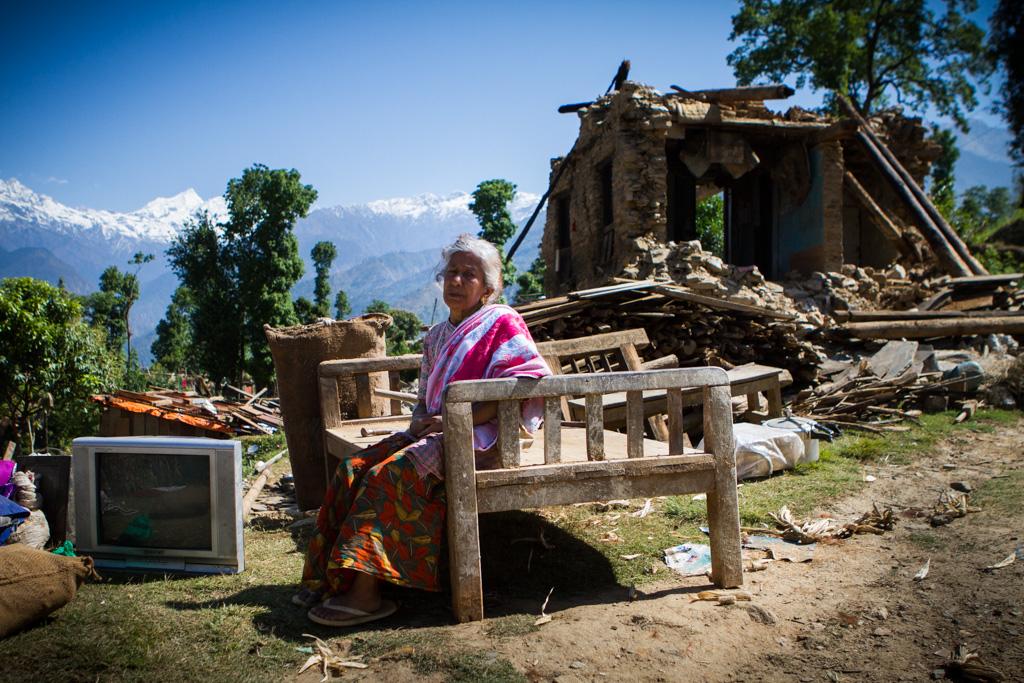 Destruction in the Gorkha District.