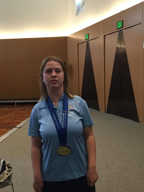 Lucy Meyer, 15 year old Special Olympics Athlete & Global Messenger for the Special Olympics 2015 games