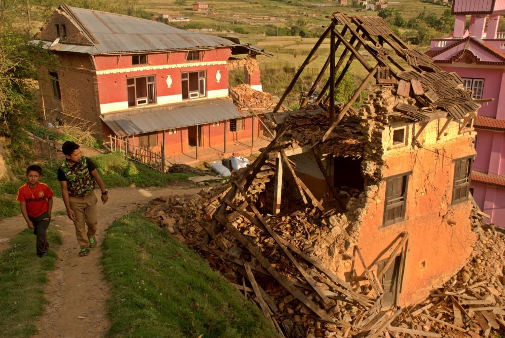 Devastation in Kathmandu (Photo: Josh Simons/World Jewish Relief)
