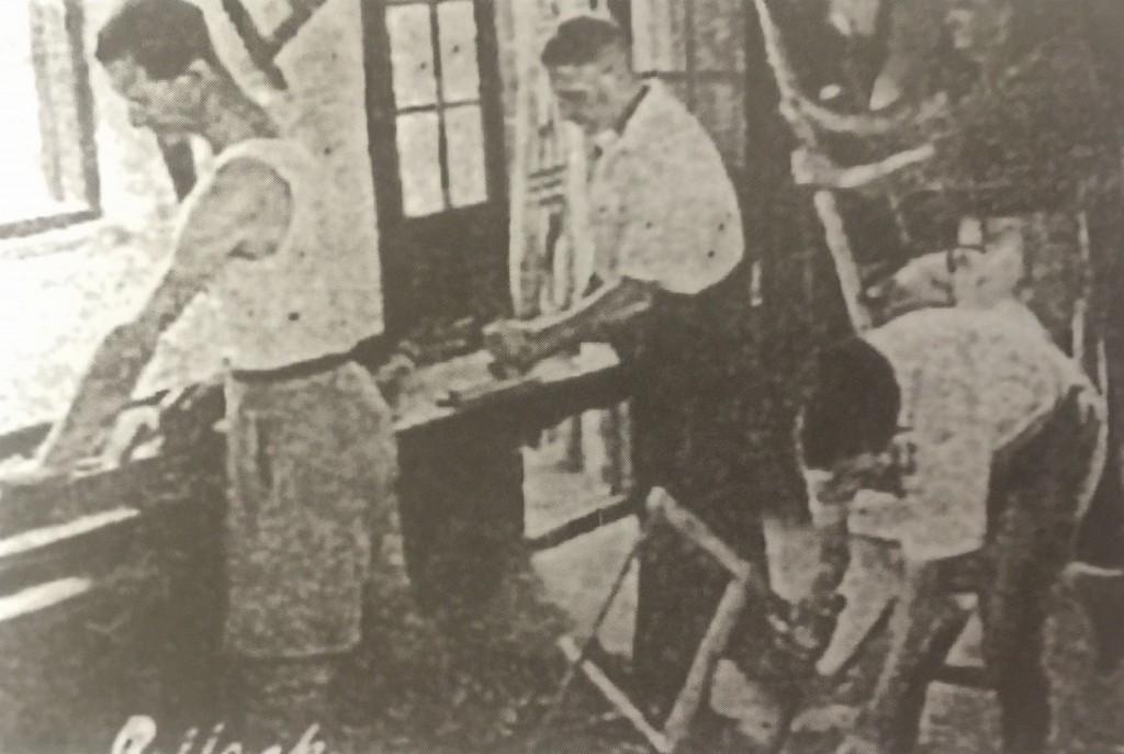 Carpentry Course (Photo Credit: CC - BY Lewin, Ossie ed., Almanac-Shanghai 1946-1947, Shanghai)