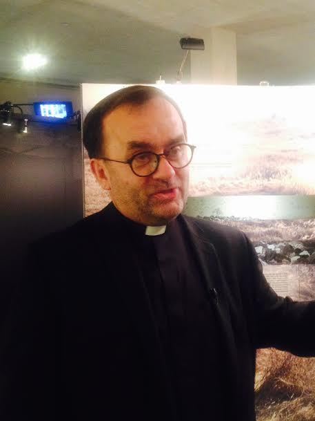 Father Patrick Desbois speaks at the Museum of Holocaust Los Angeles February 11, 2015