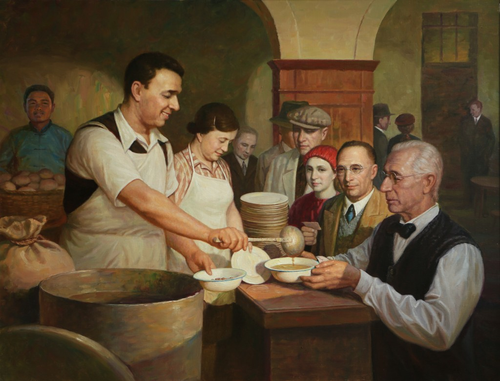 Oil Painting, Repast (Photo Credit: CC - BY Zhang Ping, Chinese Jewish Cultural Foundation)