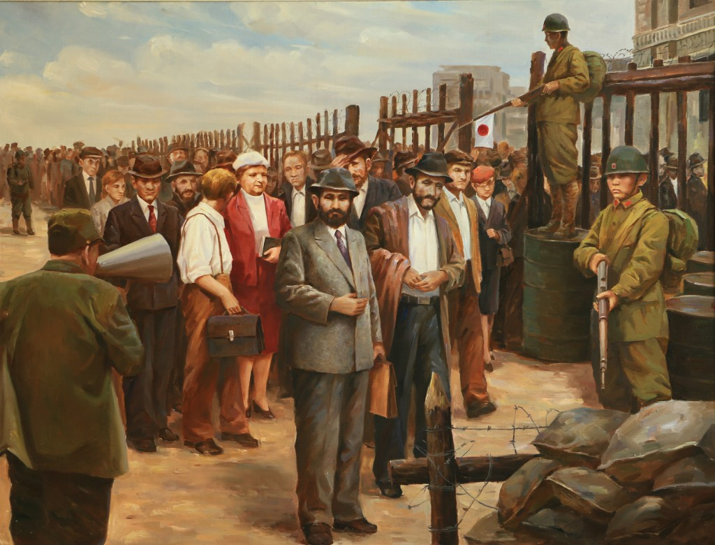 Oil painting, Interrogation of The Jews (CC - BY Zhang Ping, Chinese Jewish Cultural Foundation)