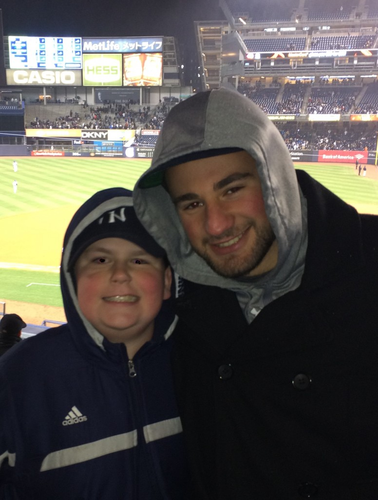 My cousin Ezra and me after a great Yankees win and spiritual moment.