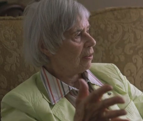 'Kitty's Fortune': A still from  footage of Kitty Hart-Moxon, the subject of my film about the Holocaust.