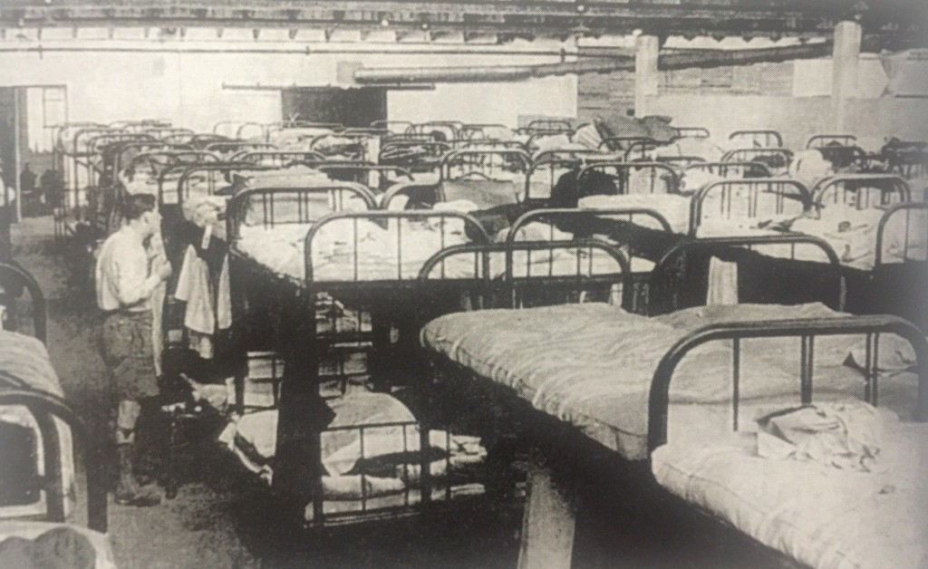 This dormitory in the Heim had beds for 200 refugees (Photo Credit: Ginsbourg, Anna, Jewish Refugees in Shanghai, Shanghai, 1940)
