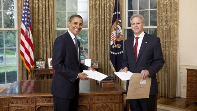 President Obama and Ambassador Michael Oren