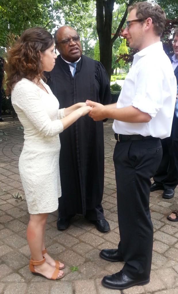 Our US civil ceremony