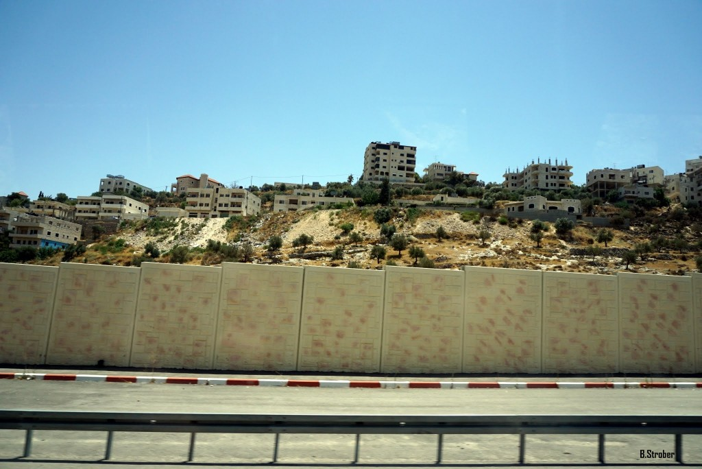 The separation wall between Israel and the West Bank