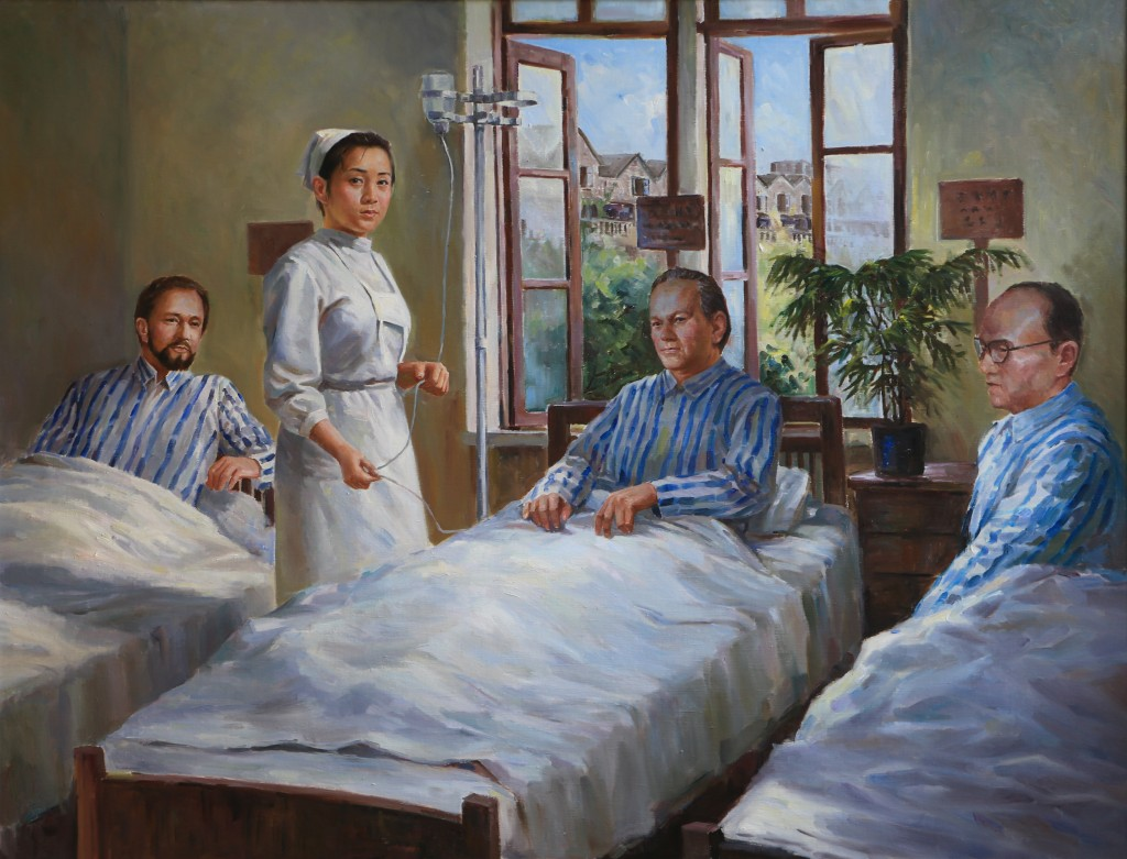 Oil painting, The Jewish Hospital (Photo Credit: CC - BY Zhang Ping, Chinese Jewish Cultural Foundation)