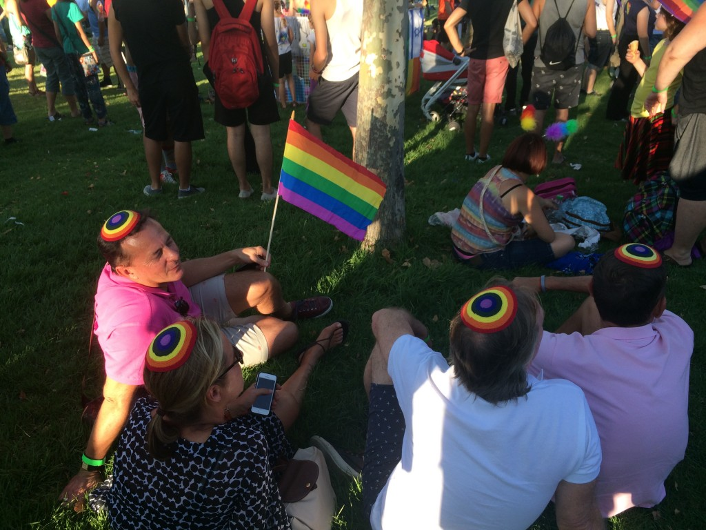 "The so-called ""naked and immodest"" participants at Jlem Pride"