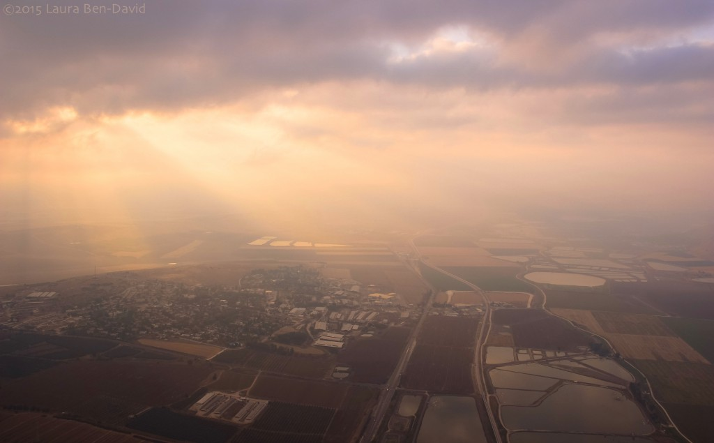 The beautiful Jezreel Valley in the Lower Galilee as viewed from our hot-air balloon. (Photo: Laura Ben-David)