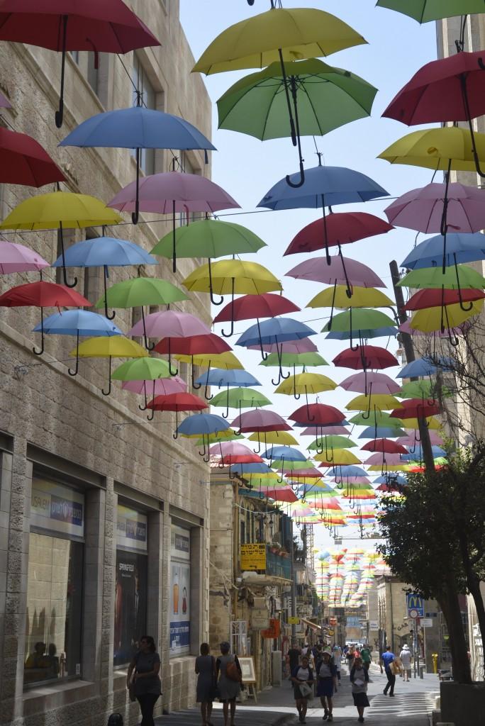 Umbrellas in Jlem