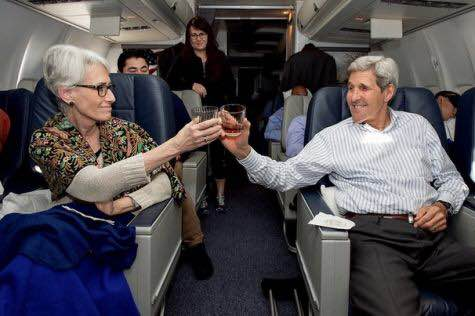 Wendy Sherman and John Kerry - celebrating a bad agreement?