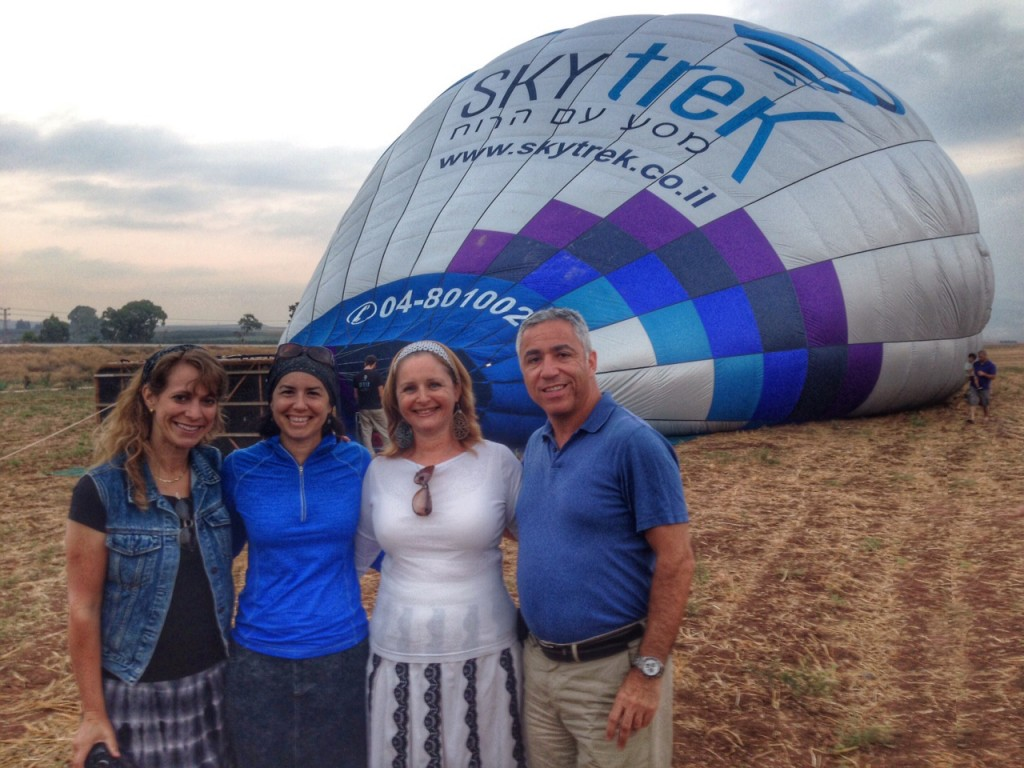 Standing by as they inflate the balloon...