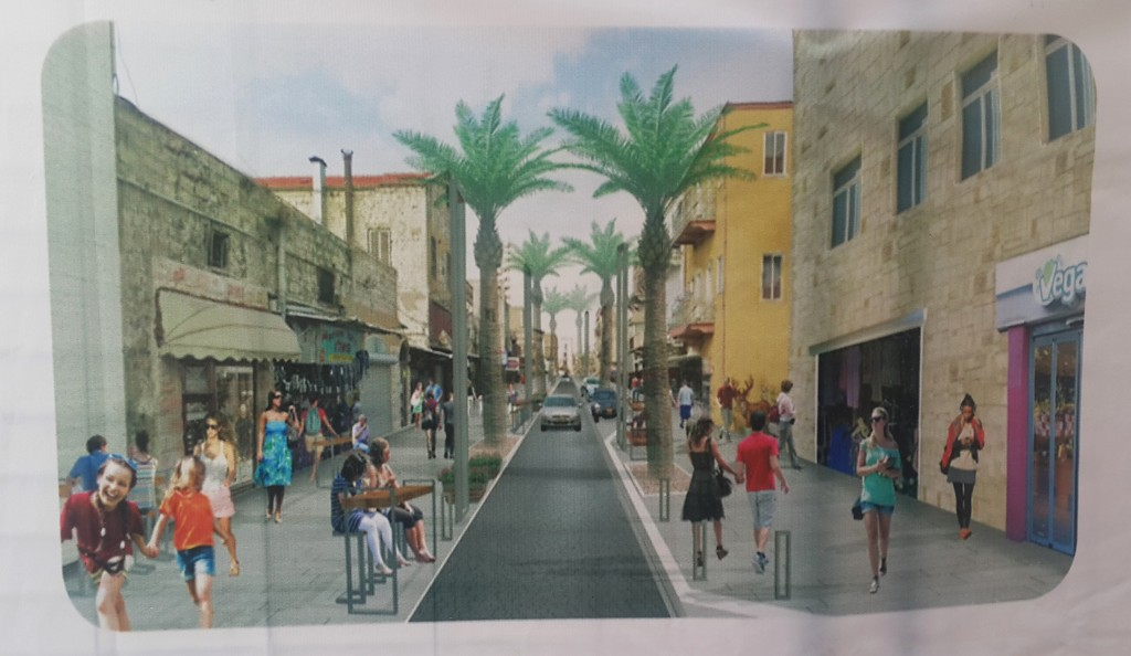Drawing of Jaffa Street after completion of the project.