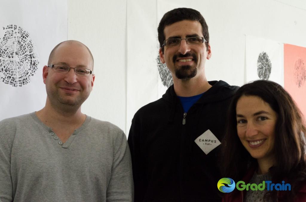 GradTrain Co-Founders (L-R), CTO Roy Ben-Sasson, CEO Jacob Bacon, and COO Lital Helman