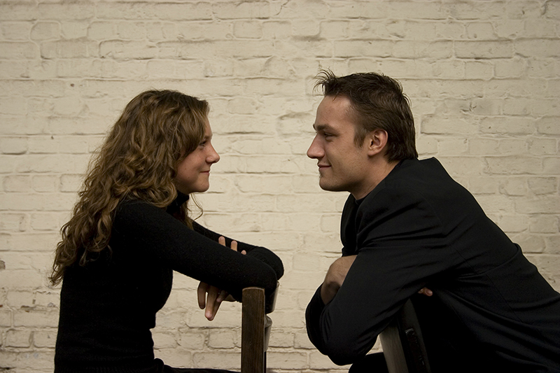 Man learns to be a good listener in marriage and relationship skills training.