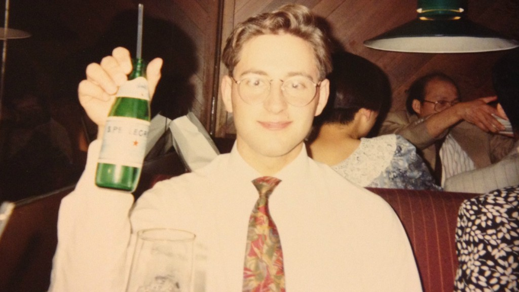 Nick celebrating in style at his 1991 high school graduation. (courtesy)