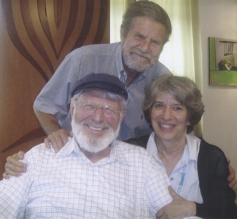 Tad Taube (top) with Theodore Bikel and Tamara Brooks