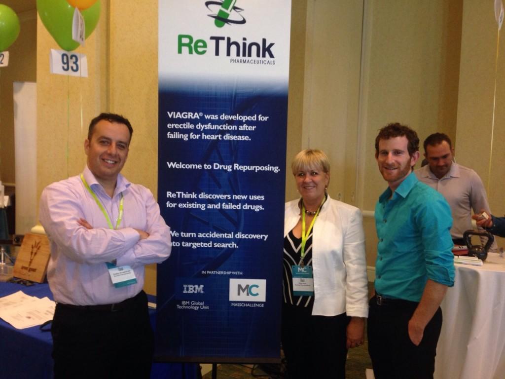 ReThink Pharmaceuticals Co-Founder Dmitry Shvartsman (left), CEO Etty Amir and COO Guy Seemann. (Photo credit: courtesy)