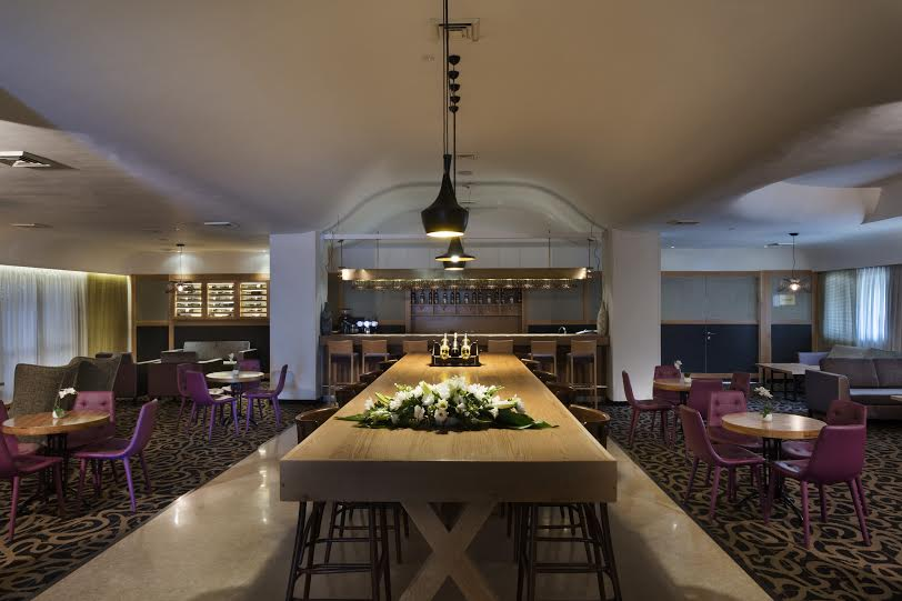 the lounge of the Prima Park Jerusalem is evolving into a wine bar that will feature wines from the nearby Judean Hills