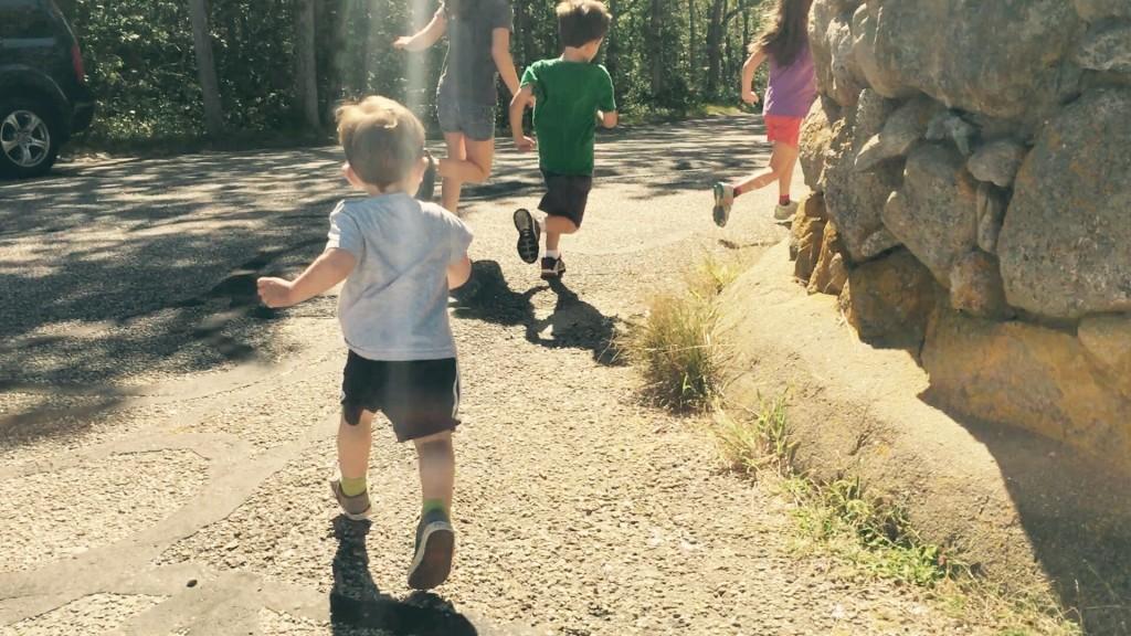 shana tova children running happy light