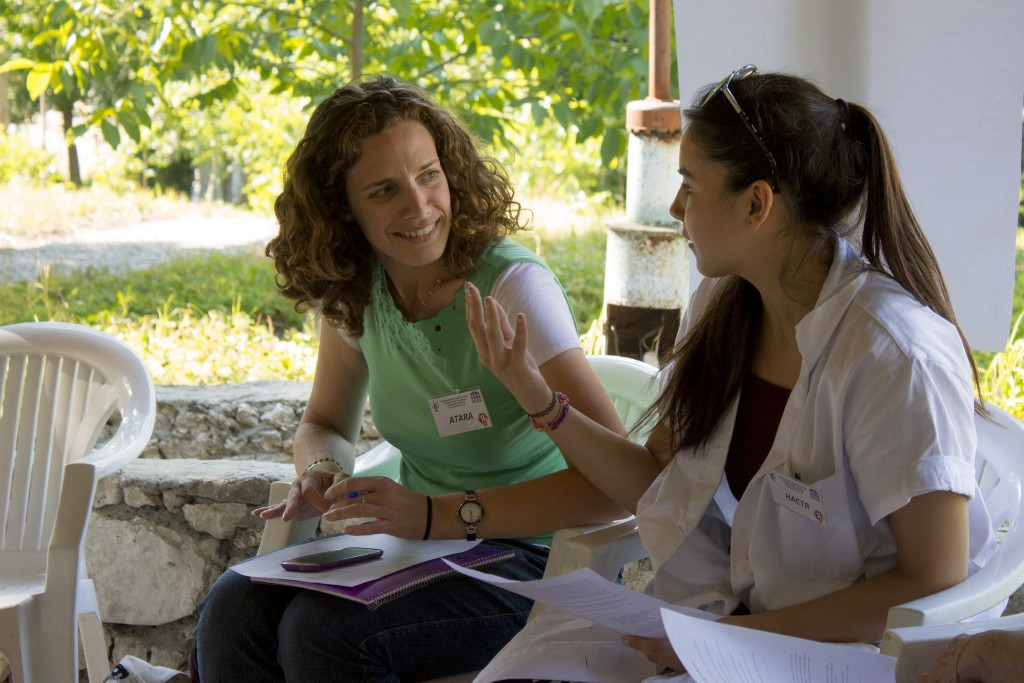 Teaching a session with the help of a translator in Kishinev, Moldova