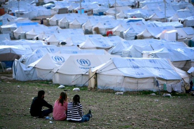 Syrian refugee camp east of Erbil, Kurdistan Region. Safin Hamed / AFP