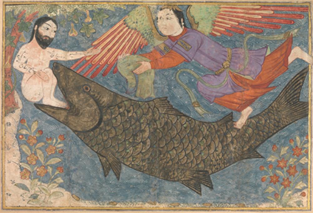 Jonah and the Whale in the Jami' al-tawarikh (c. 1400)
