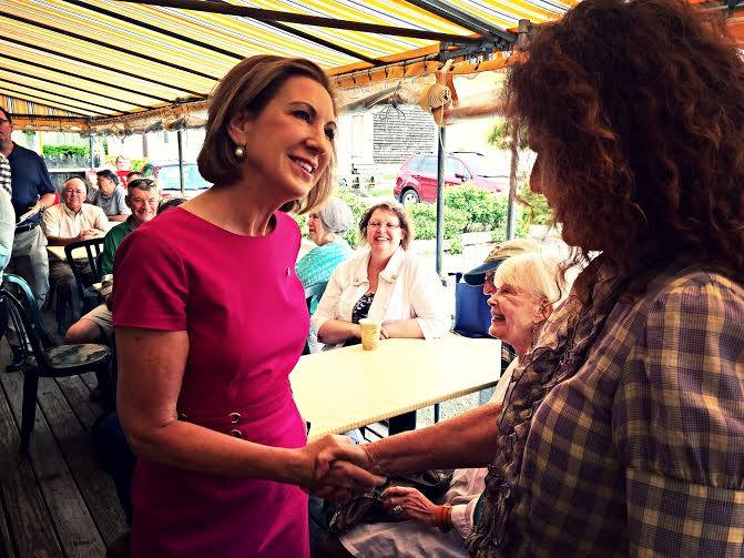Carly on the Campaign Trail.