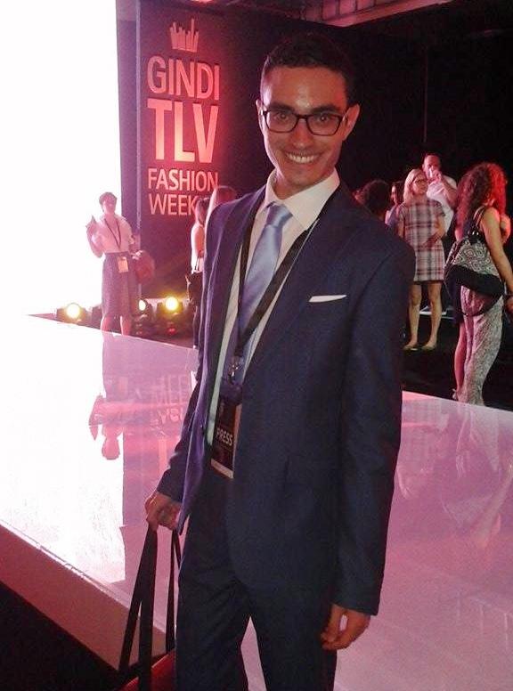 Foreign reporter Simone Somekh at Gindi Tel Aviv Fashion Week (Photo: Simone Somekh)